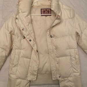 Juicy Couture Ivory Puffer Jacket